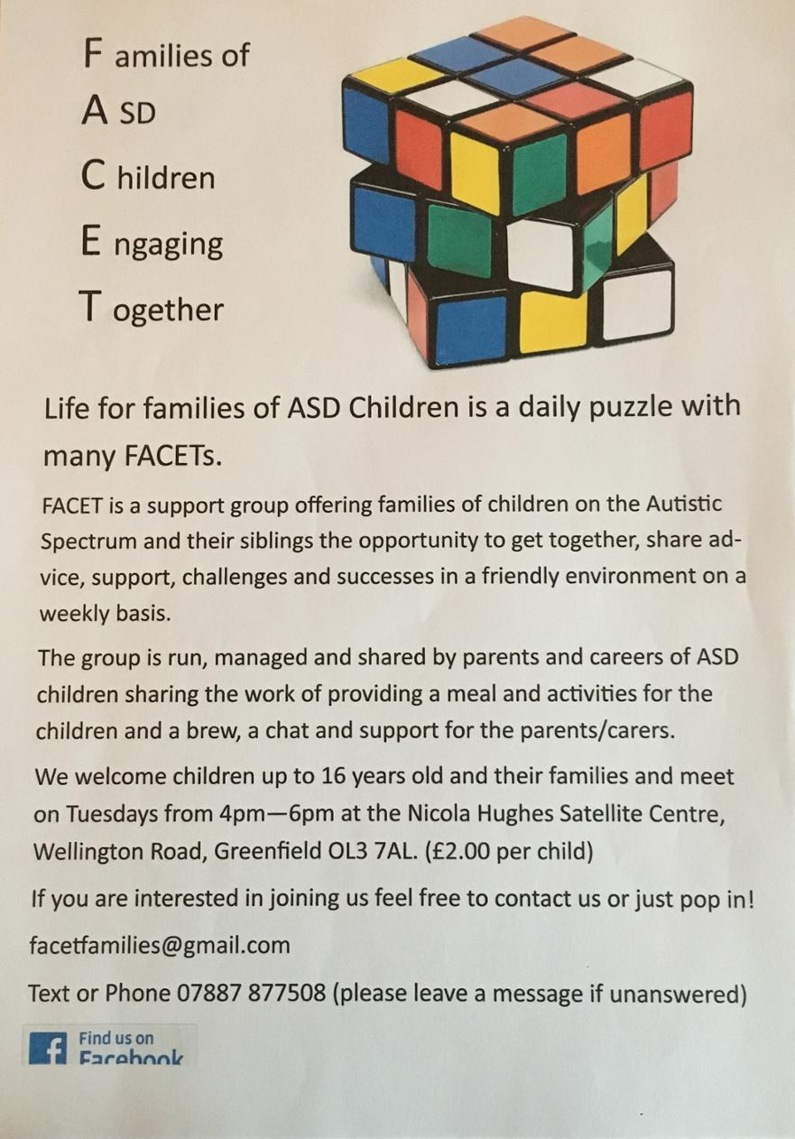 SEND Support Group - FACET flyer